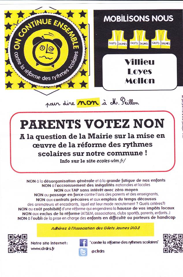 tract parents votez NON